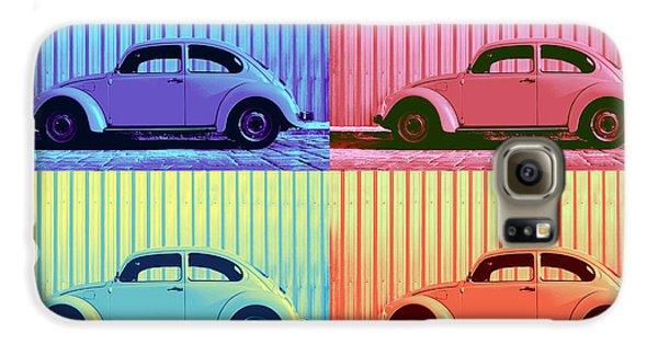Vw Beetle Pop Art Quad Galaxy S6 Case by Laura Fasulo