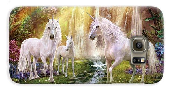 Waaterfall Glade Unicorns Galaxy S6 Case by Jan Patrik Krasny