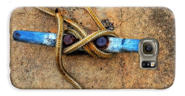 Boat Galaxy S6 Case - Waiting - Boat Tie Cleat By Sharon Cummings by Sharon Cummings