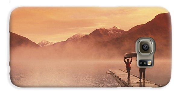 Walking On Dock Robe Lake  Sunrise Sc Galaxy S6 Case