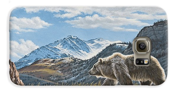 Grizzly Bear Galaxy S6 Case - Walking The Ridge - Grizzly by Paul Krapf