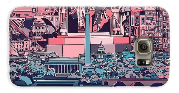 Washington Dc Skyline Abstract 2 Galaxy S6 Case