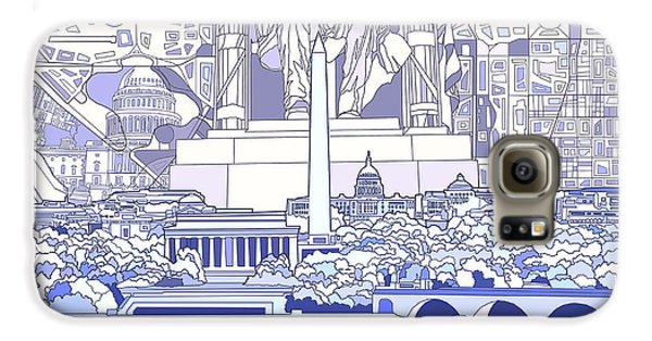 Washington Dc Skyline Abstract 3 Galaxy S6 Case