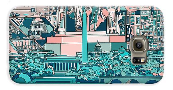 Washington Dc Skyline Abstract 5 Galaxy S6 Case
