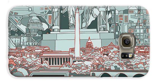Washington Dc Skyline Abstract Galaxy S6 Case
