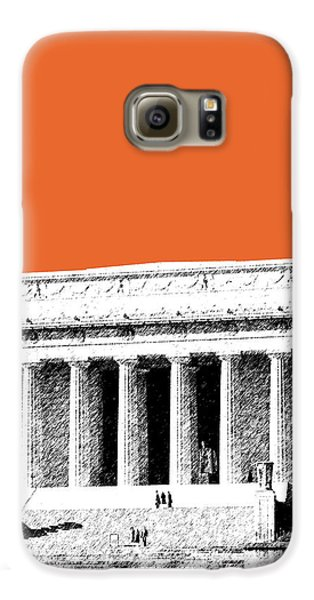 Washington Dc Skyline Lincoln Memorial - Coral Galaxy S6 Case by DB Artist