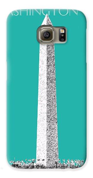 Washington Dc Skyline Washington Monument - Teal Galaxy S6 Case by DB Artist