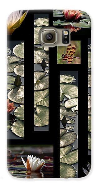 Water Lily Collage Galaxy S6 Case