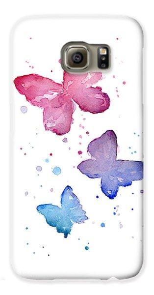 Watercolor Butterflies Galaxy S6 Case by Olga Shvartsur