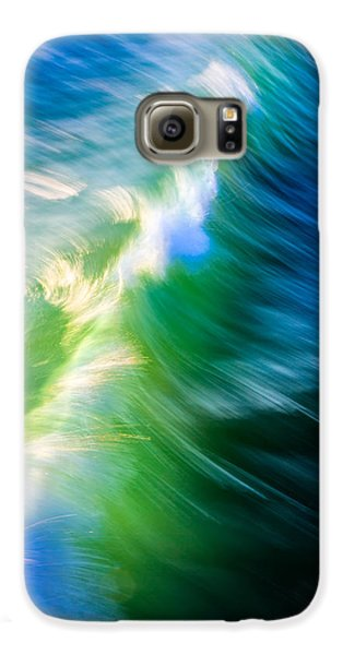 Wave Abstract Triptych 1 Galaxy S6 Case