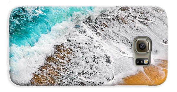 Waves Abstract Galaxy S6 Case by Silvia Ganora