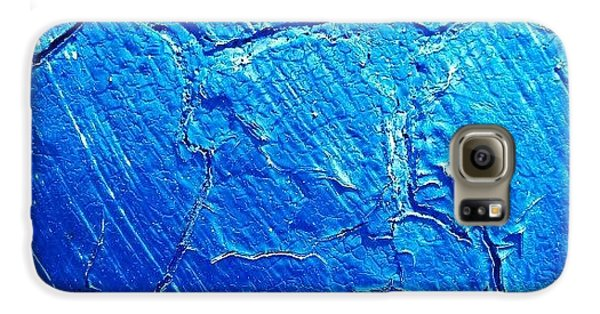 Blue Galaxy S6 Case - Weathered In Blue by CML Brown