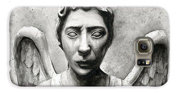 Doctor Galaxy S6 Case - Weeping Angel Don't Blink Doctor Who Fan Art by Olga Shvartsur