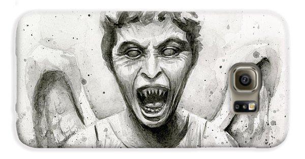Doctor Galaxy S6 Case - Weeping Angel Watercolor - Don't Blink by Olga Shvartsur