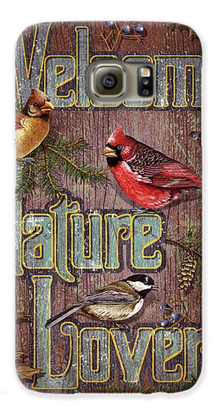 Cardinal Galaxy S6 Case - Welcome Nature Lovers 2 by JQ Licensing