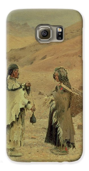 Yak Galaxy S6 Case - West Tibetans, 1875 Oil On Canvas by Piotr Petrovitch Weretshchagin