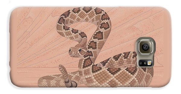 Western Diamondback Rattlesnake Galaxy S6 Case by Nathan Marcy