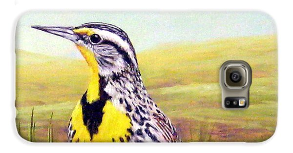 Western Meadowlark Galaxy S6 Case by Tom Chapman