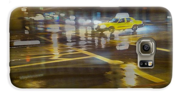 Galaxy S6 Case featuring the photograph Wet Pavement by Alex Lapidus