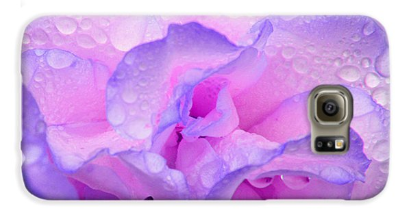 Wet Rose In Pink And Violet Galaxy S6 Case