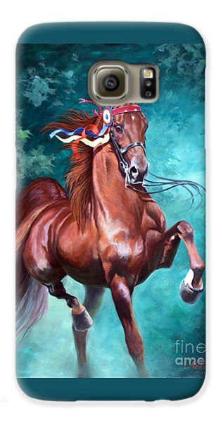Horse Galaxy S6 Case - Wgc Courageous Lord by Jeanne Newton Schoborg