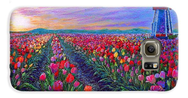 Tulip Fields, What Dreams May Come Galaxy S6 Case