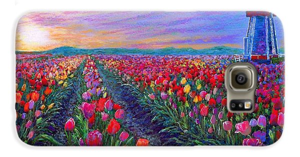Tulip Galaxy S6 Case -  Tulip Fields, What Dreams May Come by Jane Small