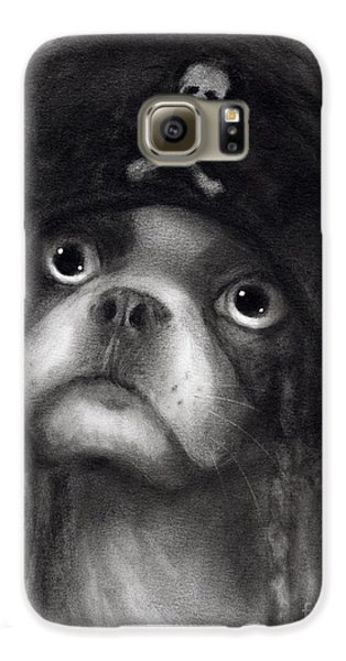 Whimsical Funny French Bulldog Pirate  Galaxy S6 Case
