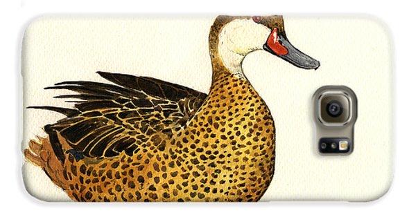 Duck Galaxy S6 Case - White Cheeked Pintail by Juan  Bosco