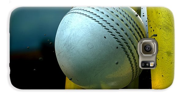 White Cricket Ball And Wickets Galaxy S6 Case by Allan Swart