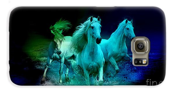 White Horses Galaxy S6 Case