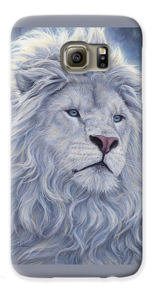 Lion Galaxy S6 Case - White Lion by Lucie Bilodeau