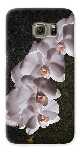 Orchid Galaxy S6 Case - White Orchid Still Life by Tom Mc Nemar