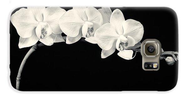 White Orchids Monochrome Galaxy S6 Case