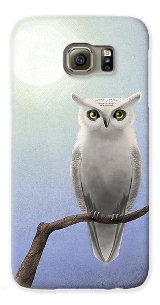 Owl Galaxy S6 Case - White Owl by April Moen