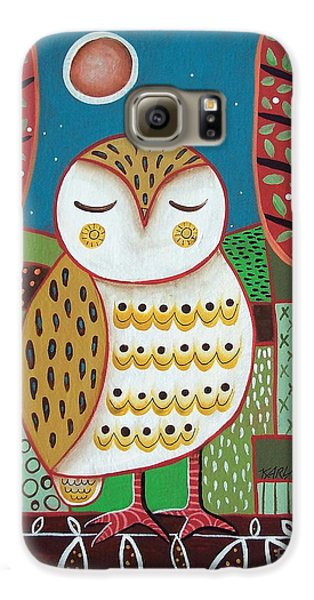 White Owl Galaxy S6 Case by Karla Gerard