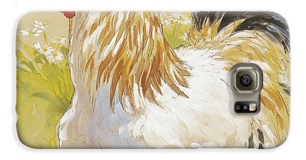 White Rooster Galaxy S6 Case by Tracie Thompson