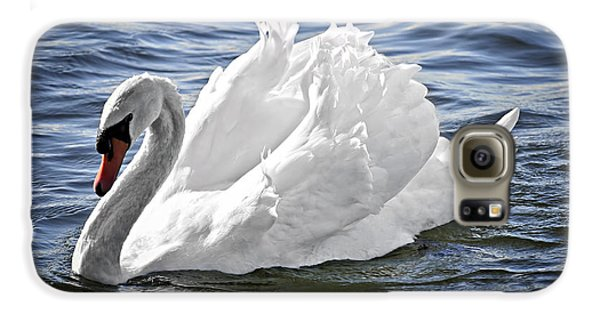 White Swan On Water Galaxy S6 Case by Elena Elisseeva