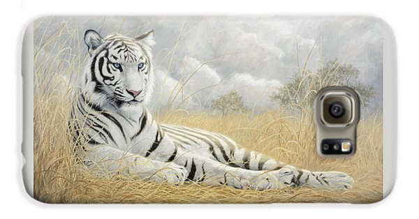 Tiger Galaxy S6 Case - White Tiger by Lucie Bilodeau