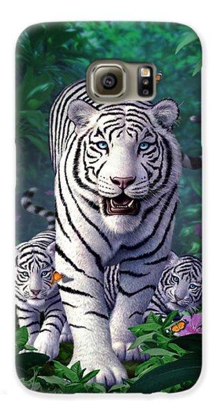 White Tigers Galaxy S6 Case by Jerry LoFaro