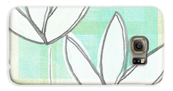 Tulip Galaxy S6 Case - White Tulips by Linda Woods