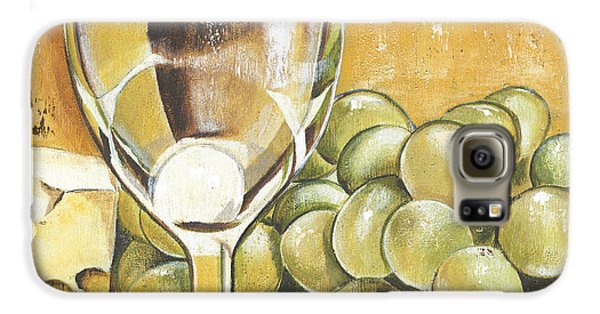 White Wine And Cheese Galaxy S6 Case by Debbie DeWitt