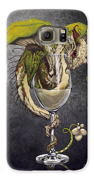 White Wine Dragon Galaxy S6 Case by Stanley Morrison