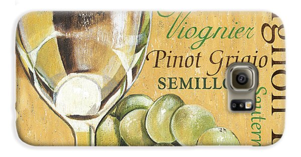 White Wine Text Galaxy S6 Case by Debbie DeWitt