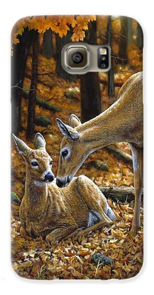 Whitetail Deer - Autumn Innocence 2 Galaxy S6 Case by Crista Forest