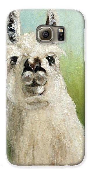 Llama Galaxy S6 Case - Whos Your Llama I by Julia Purinton