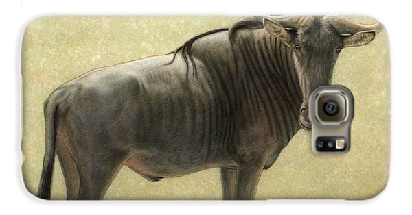 Bull Galaxy S6 Case - Wildebeest by James W Johnson