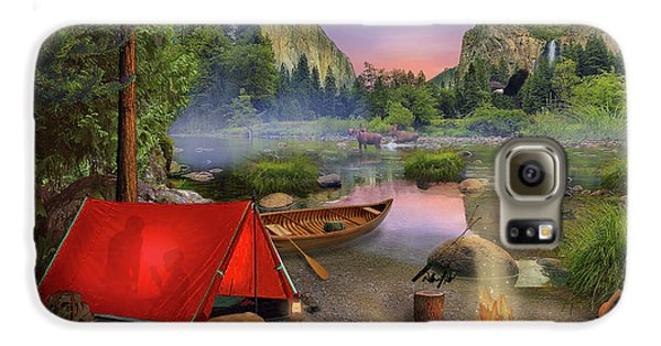 Galaxy S6 Case featuring the drawing Wilderness Trip by David M ( Maclean )