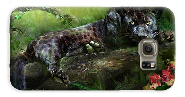 Wildeyes - Panther Galaxy S6 Case by Carol Cavalaris