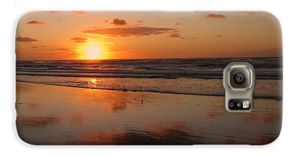 Wildwood Beach Sunrise Galaxy S6 Case by David Dehner